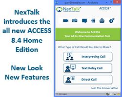 Communication Software for Deaf Hard of Hearing - NexTalk